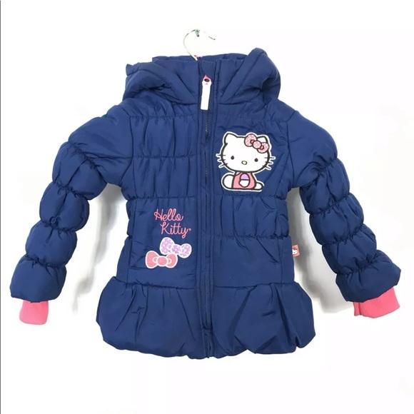 HELLO KITTY GIRLS Blue PUFFER JACKET COAT Sanrio